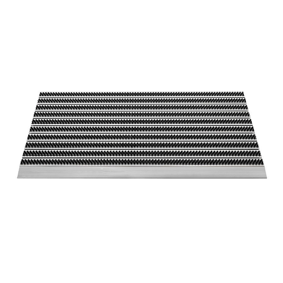 Hliníková venkovní čistící kartáčová rohož Topline - 50 x 80 x 1,5 cm