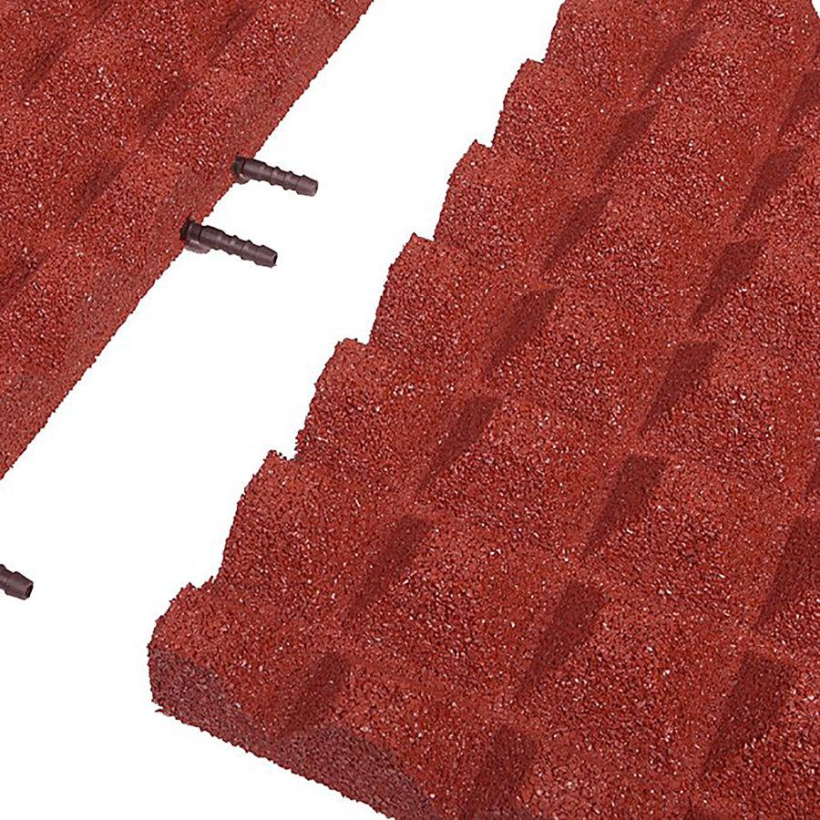 Červená gumová krajová deska (V50/R28) - délka 50 cm, šířka 25 cm a výška 5 cm