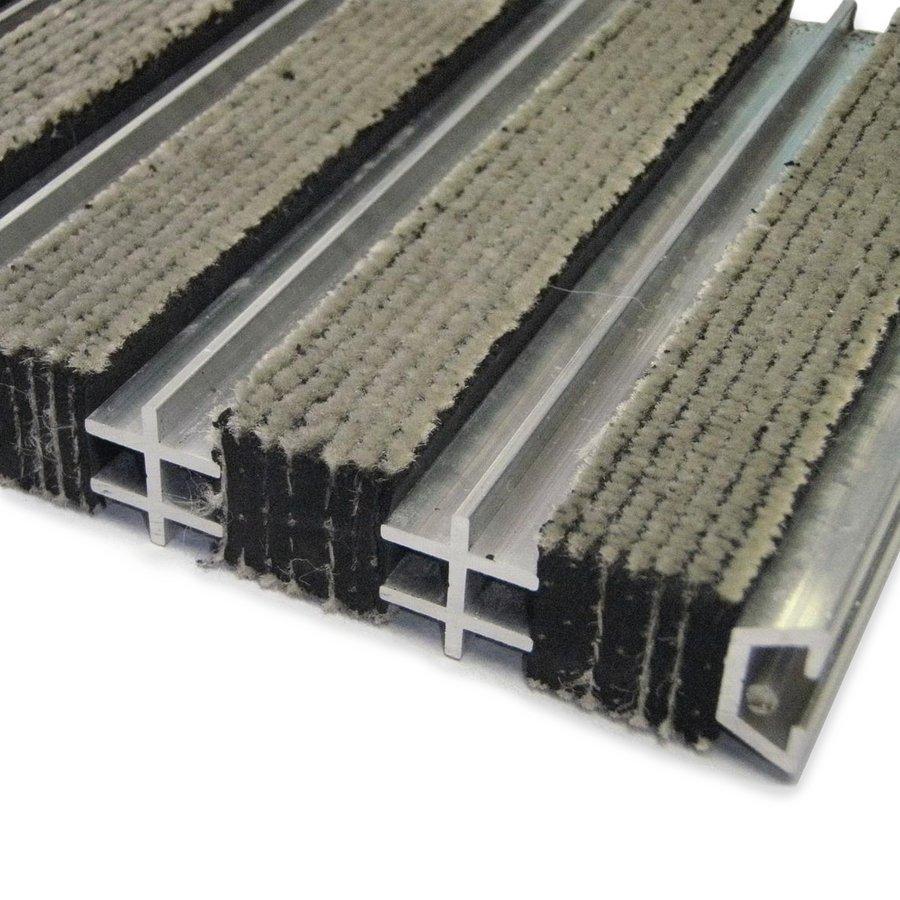 Textilní hliníková čistící vnitřní vstupní rohož Hardmat, FLOMAT - délka 100 cm, šířka 100 cm a výška 1,8 cm