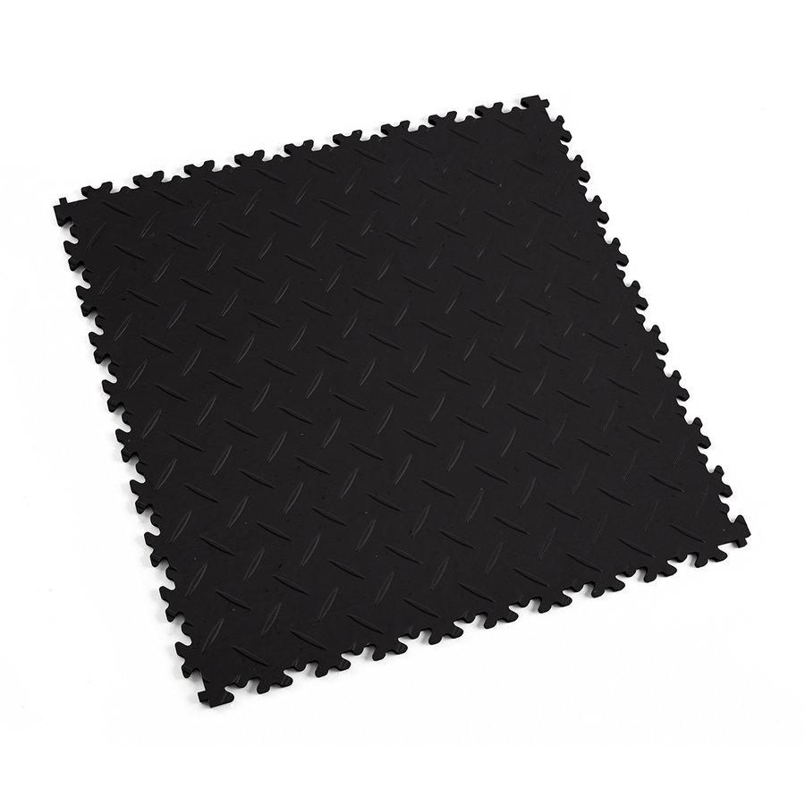 Černá vinylová plastová zátěžová dlaždice Eco 2010 (diamant), Fortelock - délka 51 cm, šířka 51 cm a výška 0,7 cm