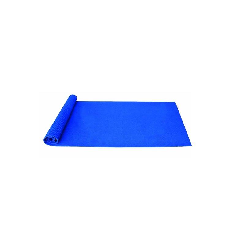 Modrá gymnastická podložka na cvičení - délka 190 cm, šířka 60 cm a výška 1,5 cm