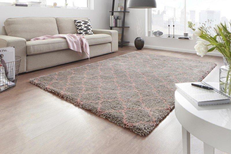 Šedý kusový moderní koberec Grace