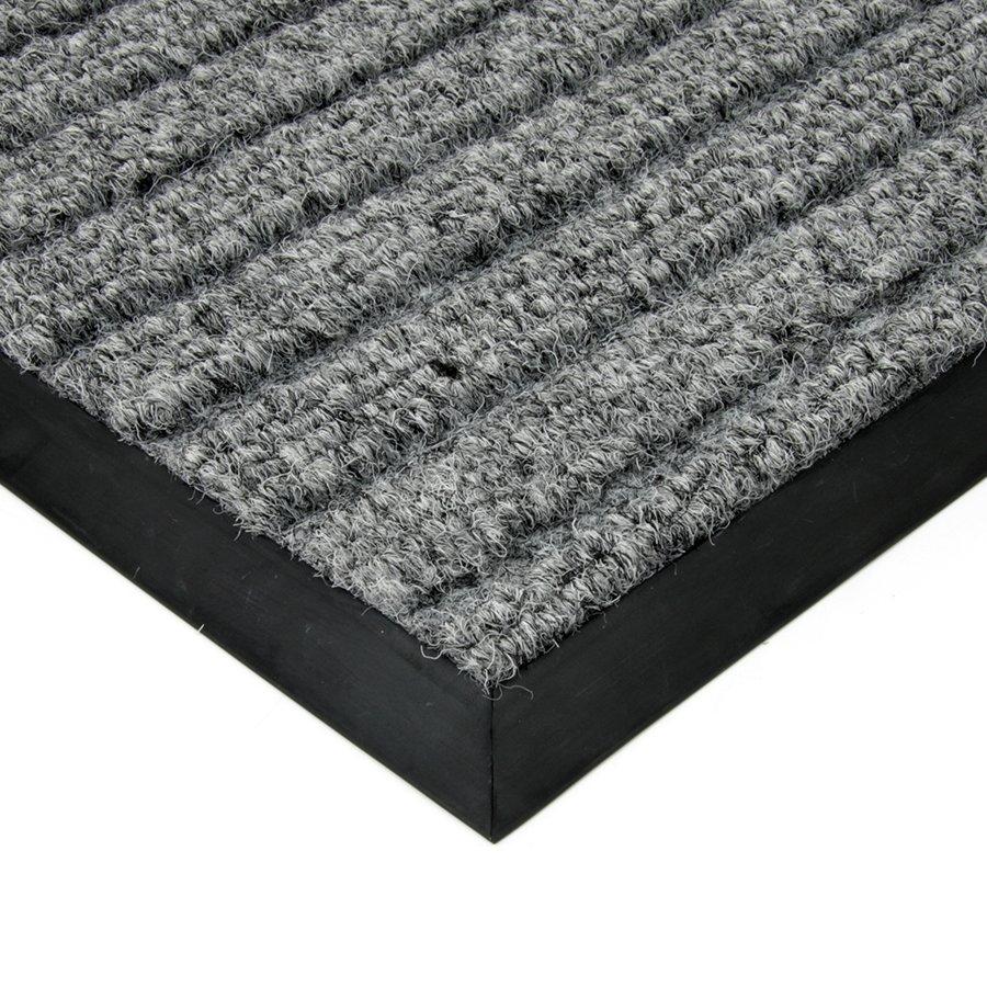 Šedá textilní vstupní vnitřní čistící zátěžová rohož Shakira, FLOMAT - délka 80 cm, šířka 120 cm a výška 1,6 cm