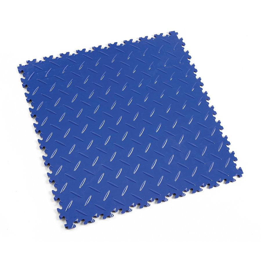 Modrá vinylová plastová zátěžová dlaždice Industry 2010 (diamant), Fortelock - délka 51 cm, šířka 51 cm a výška 0,7 cm