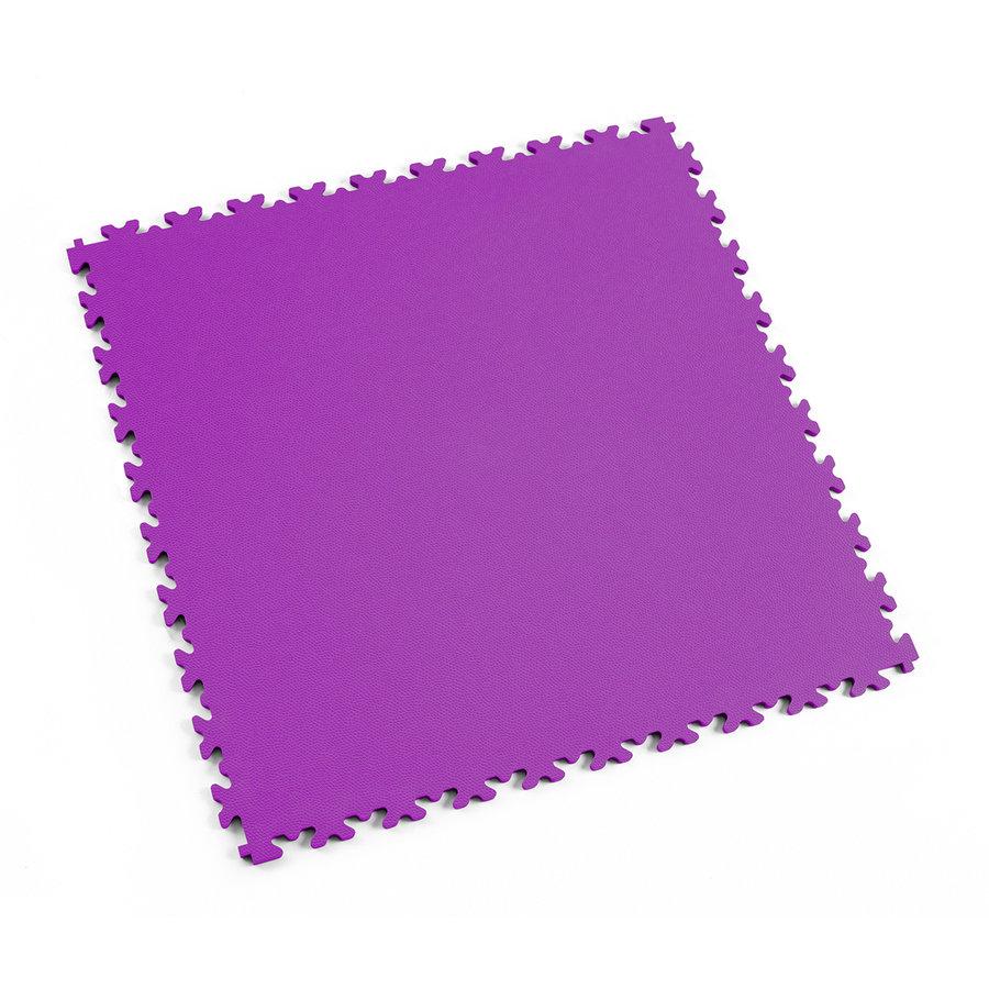 Fialová plastová vinylová zátěžová dlaždice Industry 2020 (kůže), Fortelock - délka 51 cm, šířka 51 cm a výška 0,7 cm