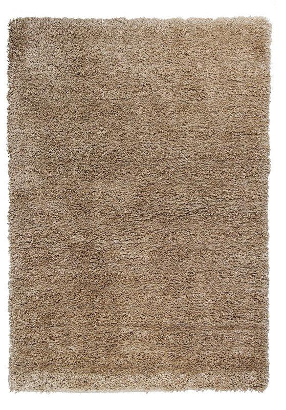 Béžový kusový koberec Shaggy s vysokým vlasem