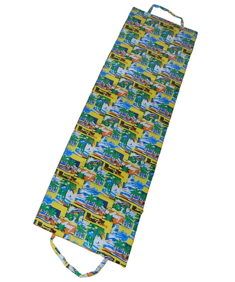 Různobarevné plážové skládací lehátko - délka 180 cm, šířka 50 cm a výška 1,5 cm