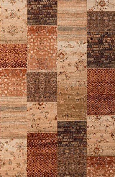 Hnědý kusový koberec Kashqai - délka 170 cm a šířka 120 cm