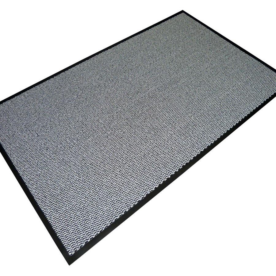 Šedá textilní vstupní vnitřní čistící rohož - délka 120 cm, šířka 180 cm a výška 0,7 cm