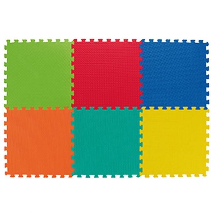 Dětská modulární hrací podložka - délka 46 cm, šířka 46 cm a výška 1,2 cm