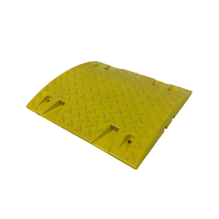 Žlutý plastový průběžný zpomalovací práh - 20 km / hod