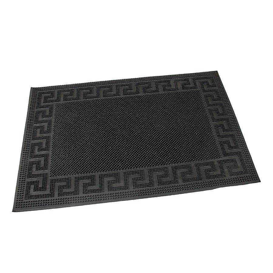 Gumová vstupní venkovní kartáčová čistící rohož Pins - Deco, FLOMAT - délka 60 cm, šířka 40 cm a výška 0,8 cm