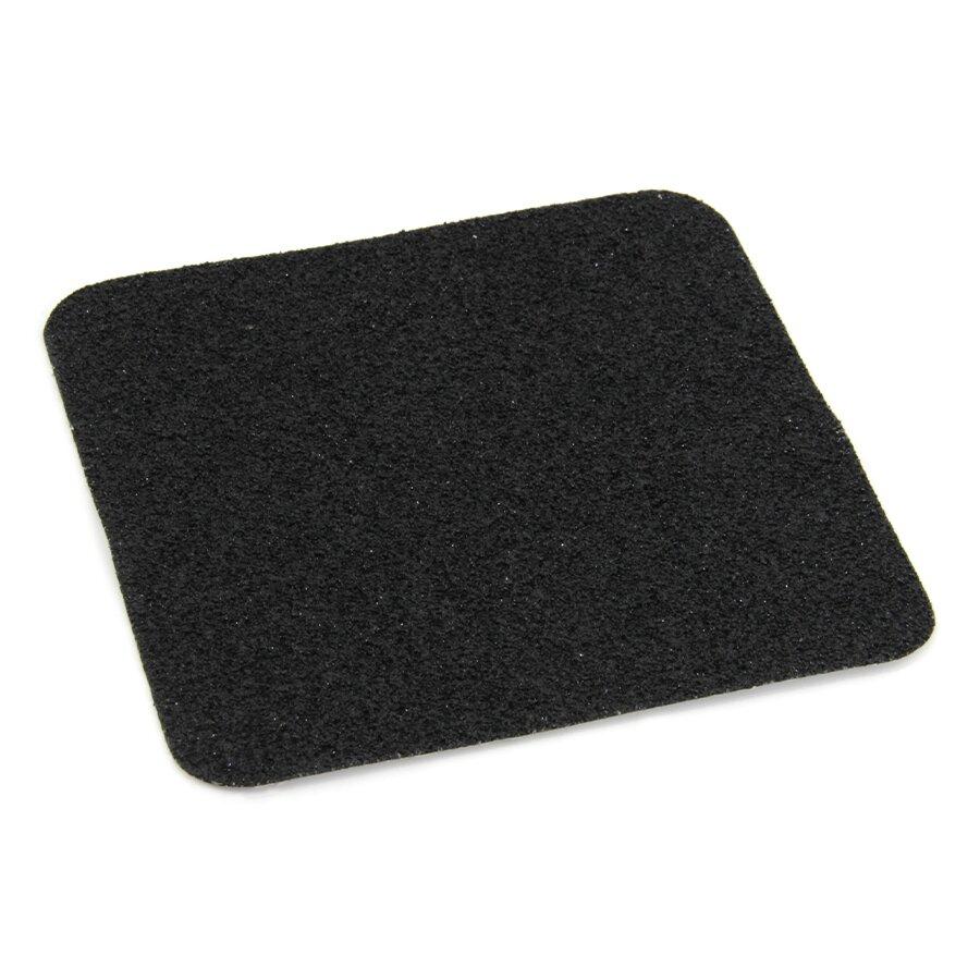 Černá korundová podlahová páska Super - 14 x 14 cm