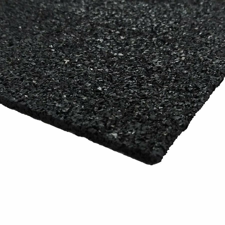 Černá gumová dlažba (deska) FLOMA SportFlo S800 - 98 x 98 x 1 cm