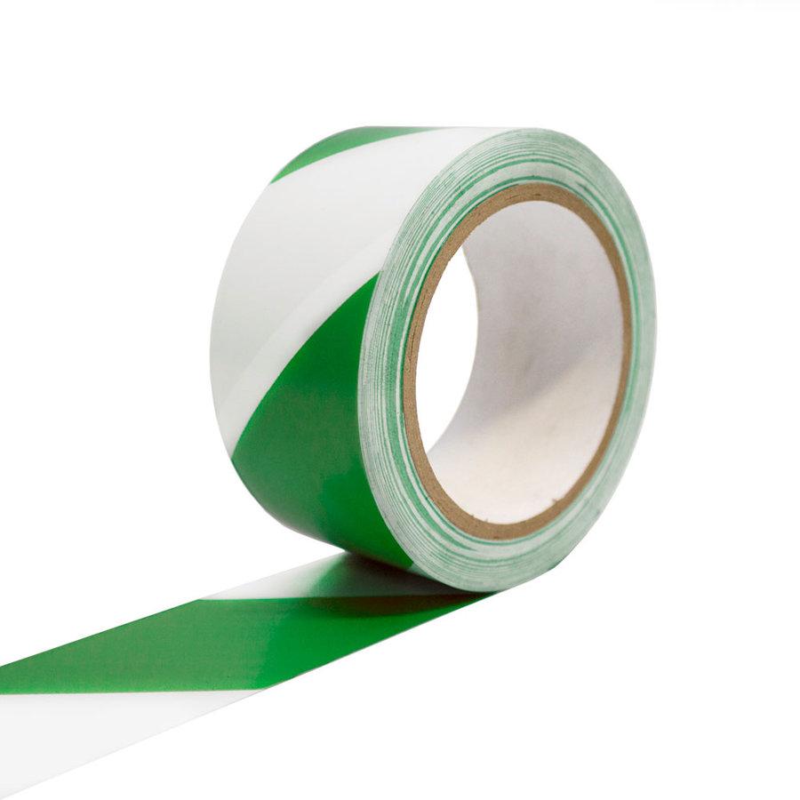 Bílo-zelená vyznačovací podlahová páska - 33 m x 5 cm (80000293)