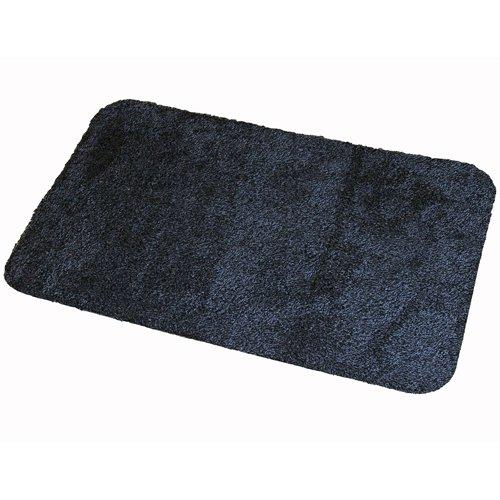 Antracitová textilní bavlněná čistící vnitřní vstupní pratelná rohož Natuflex - výška 0,8 cm