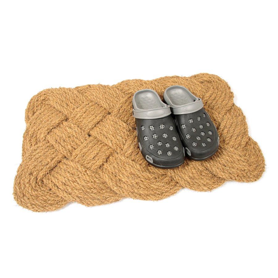 Kokosová vstupní venkovní čistící rohož Jumbo Rectangle, FLOMA - délka 45 cm, šířka 75 cm a výška 3,5 cm