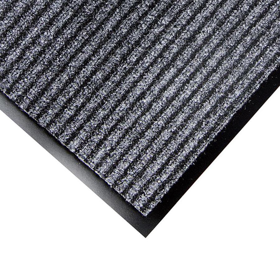 Šedá textilní vstupní rohož Favorit - délka 40 cm, šířka 60 cm a výška 0,76 cm
