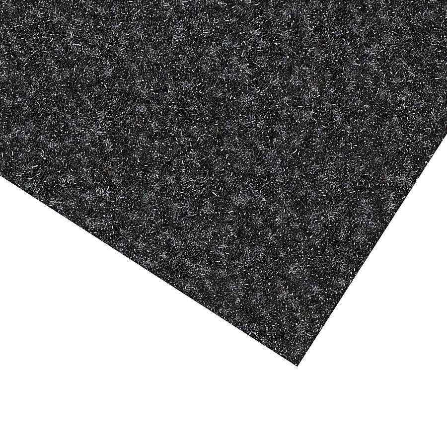 Černá kobercová vnitřní čistící zóna Valeria, FLOMAT (Bfl-S1) - délka 200 cm a výška 0,9 cm
