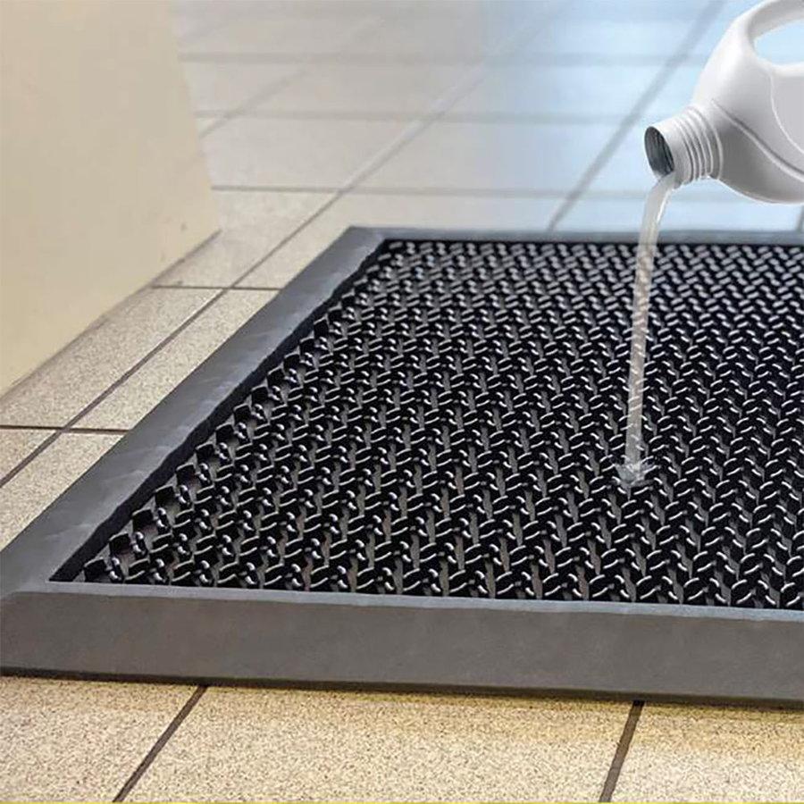 Černá gumová dezinfekční hygienická rohož - 55 x 80 x 1,6 cm