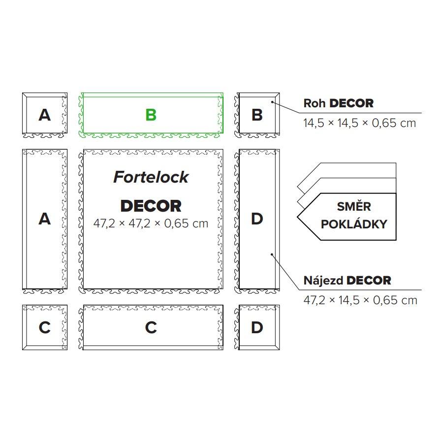 "Hnědý plastový vinylový nájezd ""typ B"" Home Decor 2114, Fortelock - délka 47,2 cm, šířka 14,5 cm a výška 0,65 cm"