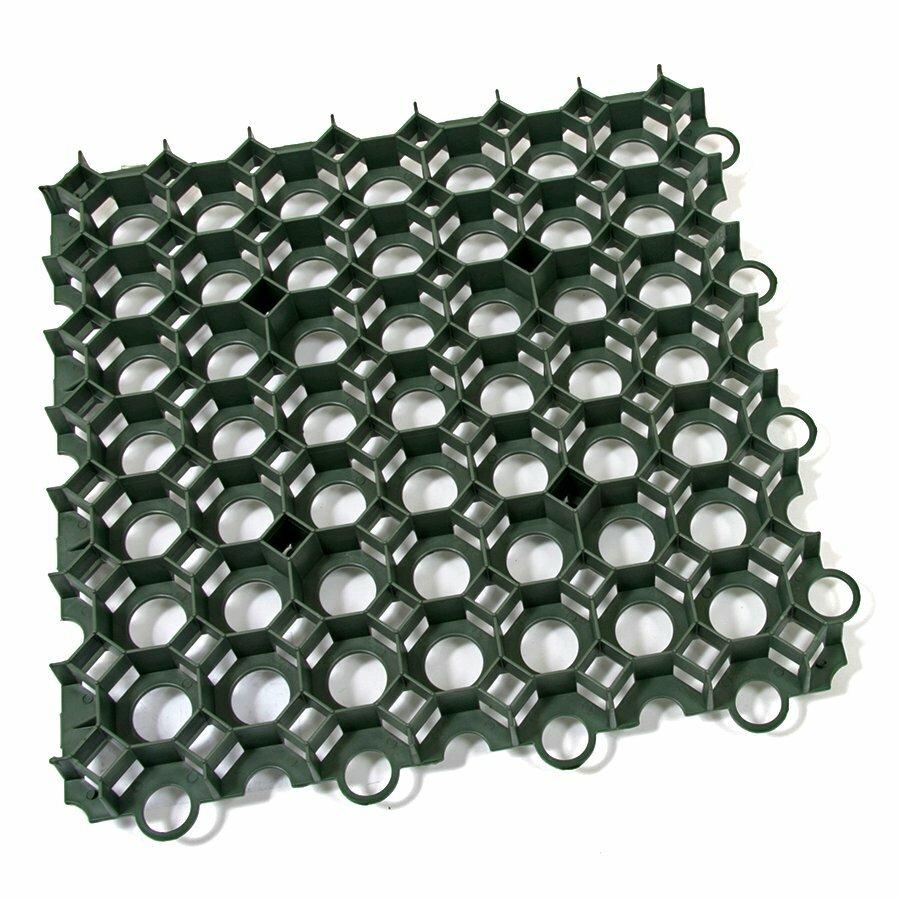 Zelená plastová zatravňovací dlažba FLOMA Stella Green - 50 x 50 x 4 cm