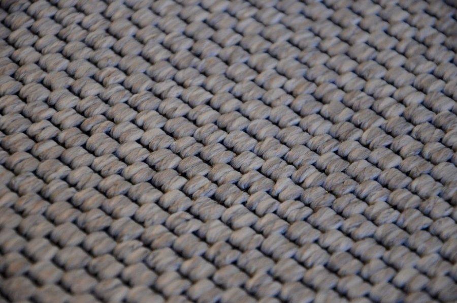 Šedý metrážový koberec Nature - šířka 400 cm