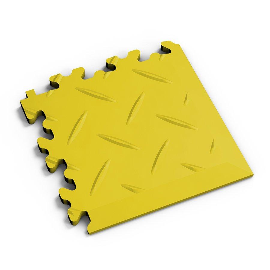 Žlutý plastový vinylový rohový nájezd 2016 (diamant), Fortelock - délka 14 cm, šířka 14 cm a výška 0,7 cm