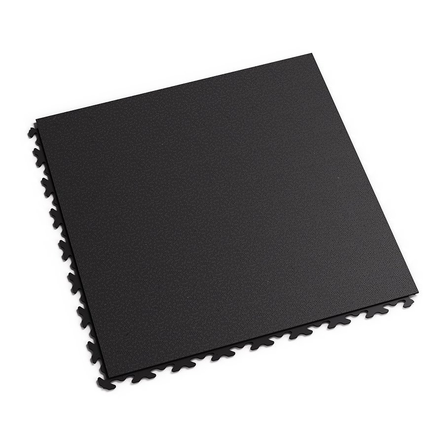 Černá plastová vinylová zátěžová dlaždice Invisible 2030 (hadí kůže), Fortelock - délka 46,8 cm, šířka 46,8 cm a výška 0,67 cm