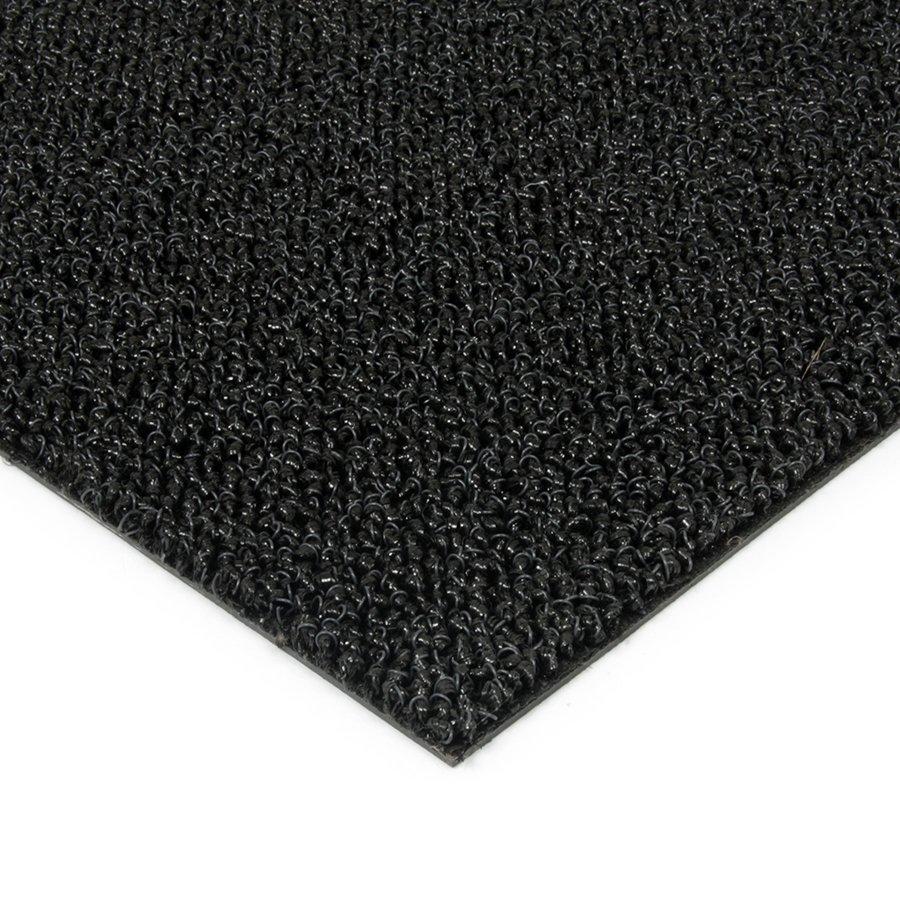 Černá plastová zátěžová venkovní vnitřní vstupní čistící zóna Rita, FLOMAT - délka 1 cm, šířka 1 cm a výška 1 cm