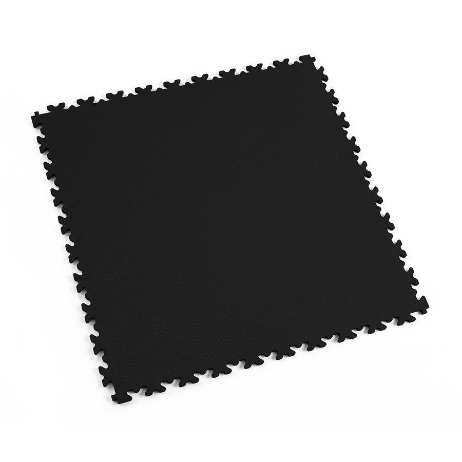 Černá vinylová plastová dlaždice Light 2060 (kůže), Fortelock - délka 51 cm, šířka 51 cm a výška 0,7 cm
