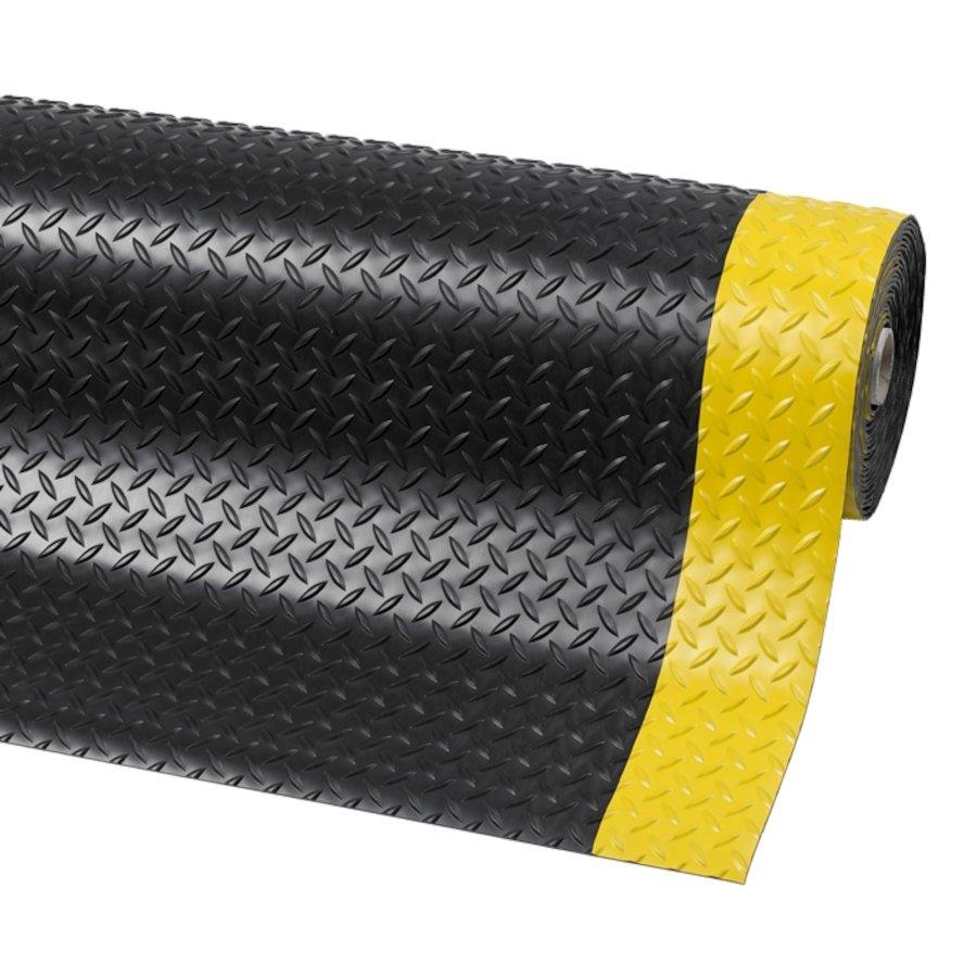 Černo-žlutá protiskluzová rohož Diamond Plate Runner - výška 0,47 cm