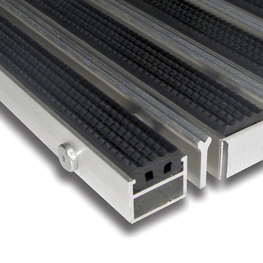 Gumová hliníková kartáčová venkovní vstupní rohož Alu Extra, FLOMA - délka 150 cm, šířka 100 cm a výška 2,7 cm