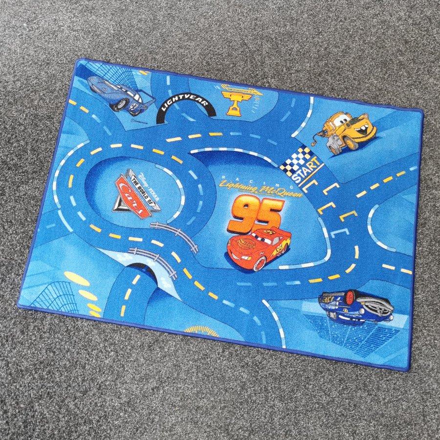 Modrý dětský hrací koberec - délka 100 cm a šířka 100 cm