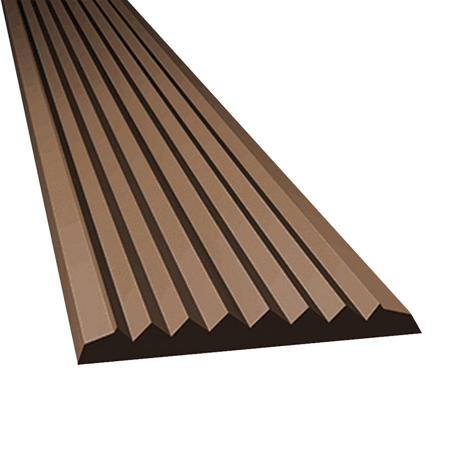Hnědá gumová protiskluzová schodová lišta - délka 5 m, šířka 4,7 cm a výška 0,45 cm