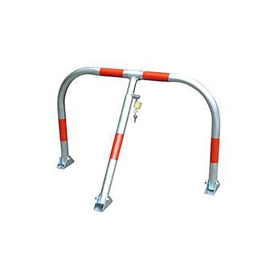 Ocelová sklopná parkovací zábrana (oblouk) - šířka 68 cm a výška 50 cm