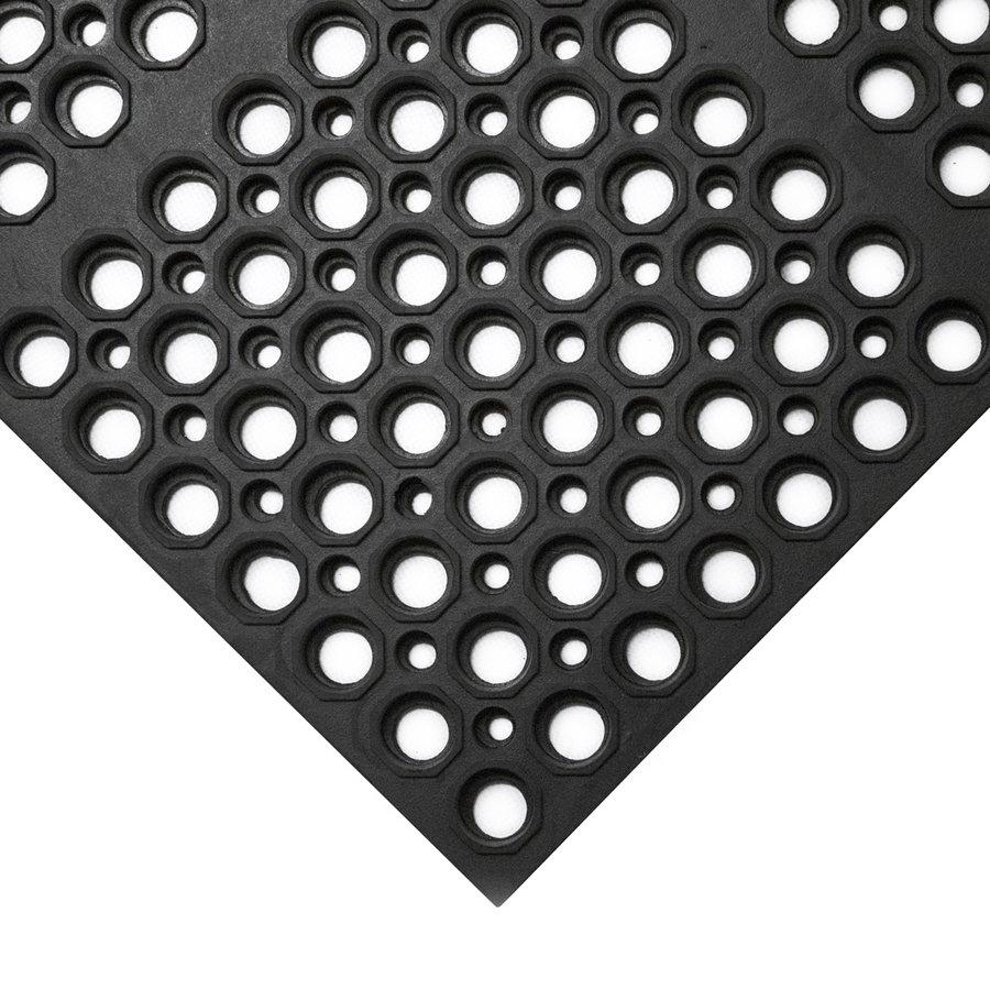 Černá gumová protiskluzová protiúnavová průmyslová modulární rohož COBA Deluxe - délka 150 cm, šířka 100 cm a výška 1,9 cm
