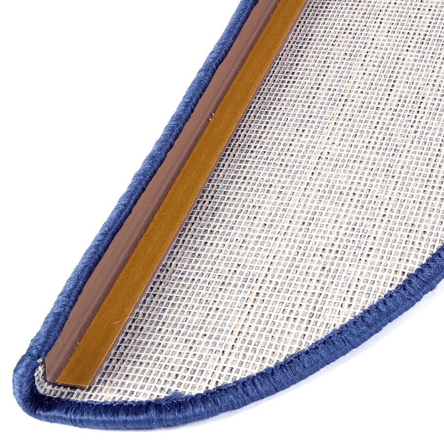 Béžový kobercový půlkruhový nášlap na schody Udinese - délka 65 cm a šířka 24 cm