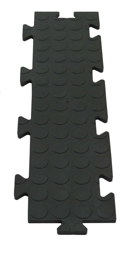 Černá PVC vinylová zátěžová puzzle protiskluzová spojovací dlaždice Tenax - 50 x 12 x 0,8 cm