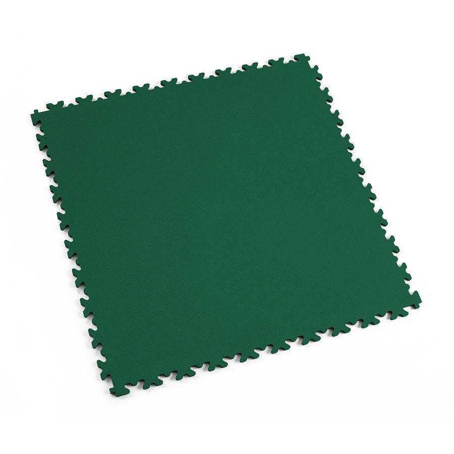 Zelená vinylová plastová zátěžová dlaždice Industry 2020 (kůže), Fortelock - délka 51 cm, šířka 51 cm a výška 0,7 cm