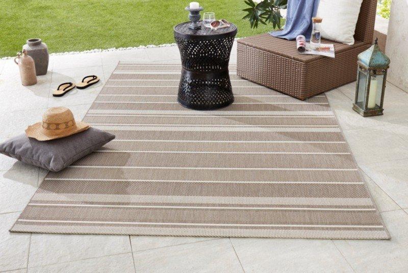 Béžový kusový moderní koberec Meadow