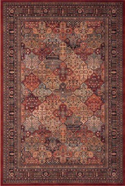 Červený orientální kusový koberec Kashqai - délka 400 cm a šířka 300 cm