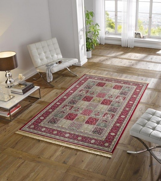 Červený orientální kusový koberec Majestic - délka 170 cm a šířka 120 cm