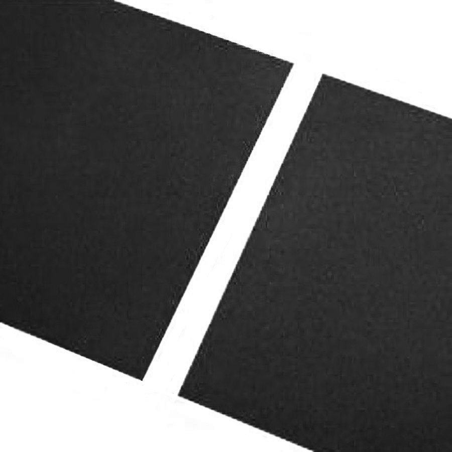 Černá gumová hladká dlaždice - délka 100 cm, šířka 100 cm a výška 2,3 cm