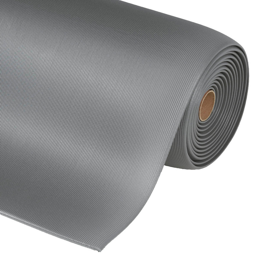 Šedá protiúnavová průmyslová rohož - výška 1,27 cm