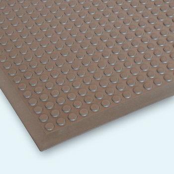 Šedá průmyslová protiúnavová protiskluzová rohož - délka 90 cm, šířka 60 cm a výška 1,2 cm