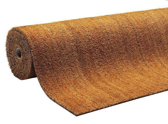 Béžová kokosová čistící vnitřní vstupní rohož Natural Coco, FLOMAT - výška 1,5 cm