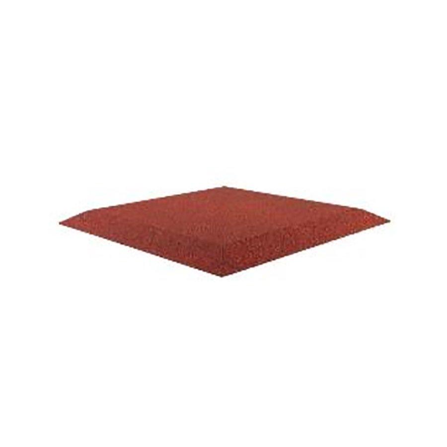 Červená gumová krajová deska (V30/R00) (roh) - délka 50 cm, šířka 50 cm a výška 3 cm