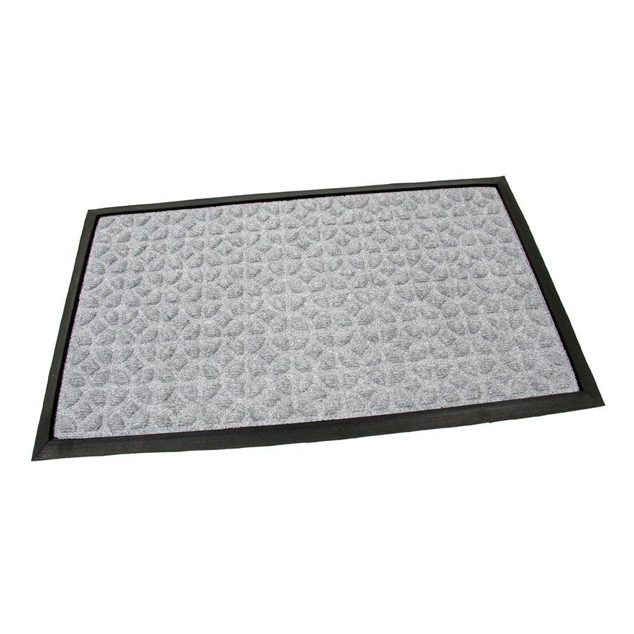 Šedá textilní gumová čistící vstupní rohož Rectangle - Deco, FLOMA - délka 45 cm, šířka 75 cm a výška 0,8 cm