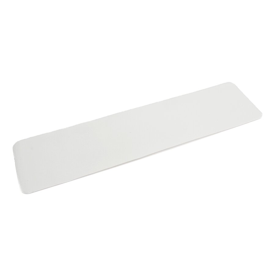 Bílá korundová protiskluzová páska (pás) FLOMA Standard - 15 x 61 cm a tloušťka 0,7 mm